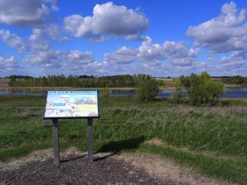 Wall Lake Sign
